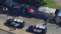 Officers working to clean up Brentwood homeless encampment on San Vicente