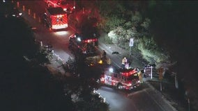 5 teenagers struck by hit-and-run driver on Mulholland Drive; driver sought