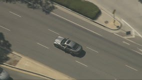 Suspect cornered at dead end after leading LAPD on chase