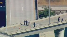 Armed woman shot by CHP officers on Glendale freeway interchange