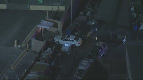 Standoff underway involving police chase suspect in Boyle Heights