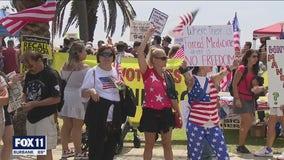 Anti-vaccine protest held in Santa Monica