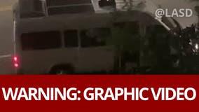 Woman heard screaming for help in van in Santa Clarita area found safe
