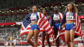 Allyson Felix wins 11th career Olympic medal as US women take gold in 4X400 relay