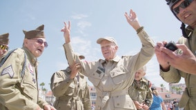 WWII veteran parachutes from plane for 100th birthday