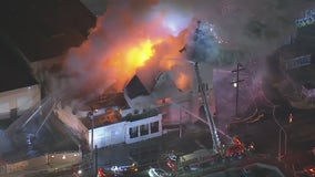 Fire destroys vacant church in downtown Los Angeles