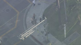 Anaheim PD investigating suspicious device on vehicle parked outside police station