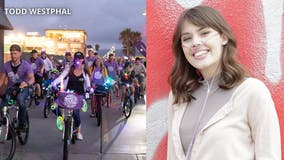 Glow Ride held to honor YouTube star, raise money in fight against cystic fibrosis