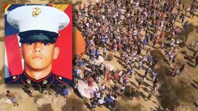 Hundreds gather to honor SoCal Marine killed in Kabul airport suicide bombing attack