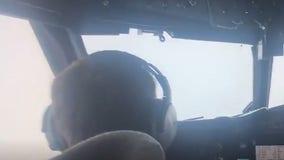 Flight crews release stunning video showing eye of Hurricane Ida