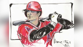 Enjoy Shohei Ohtani's historic MLB season with the Angels with new sketch