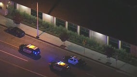 Shootout near La Habra police station leaves suspect dead, officer recovering