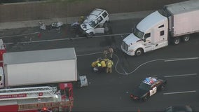 1 dead, 5 injured during wrong-way crash on the 101 Freeway in Encino