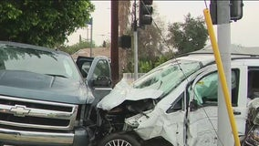 3 hospitalized following multi-vehicle crash in Sun Valley