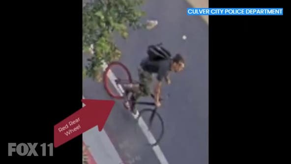 Culver City jogger attack: Police release video of bicyclist accused of hitting woman in head