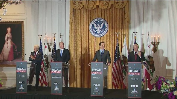 Recall Debate: Gubernatorial candidates weigh in on important issues facing Californians