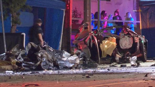 Street racing suspected in horrific Burbank crash that left 3 innocent people dead