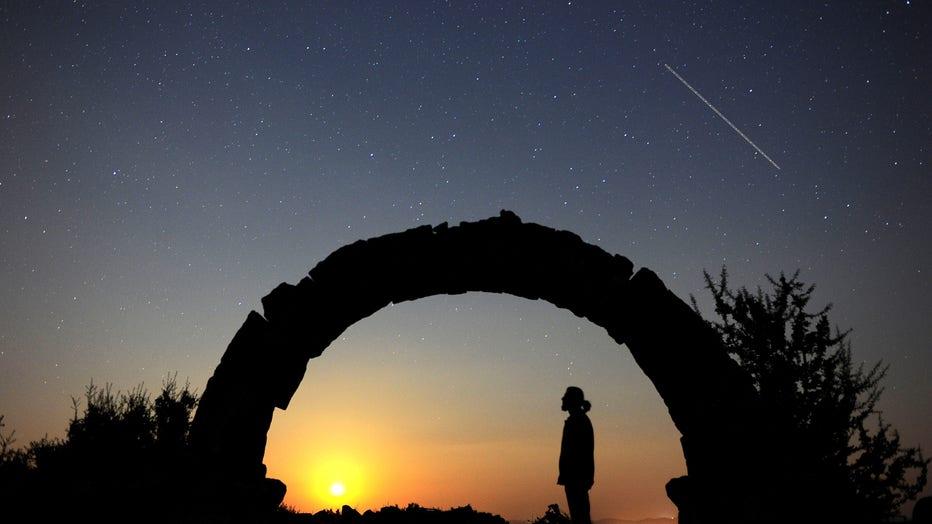 Perseid Meteor Shower in Turkey's Usak