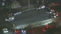 8 hurt, including children and LAPD officers, in multiple-vehicle wreck in South Los Angeles