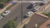 Motorcyclist taken into custody following brief pursuit in Reseda area