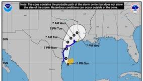 Nicholas upgraded to hurricane as it heads for Texas Gulf Coast