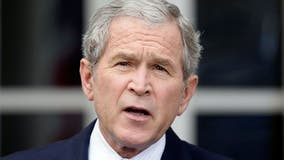 George W. Bush speaks in Beverly Hills, heads to Long Beach