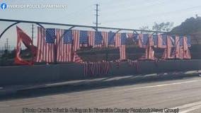 Flags honoring 13 U.S. service members killed in Kabul vandalized in Riverside