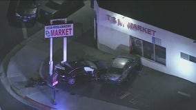 1 dead, 4 others – including pregnant woman – hurt in El Monte crash and shooting