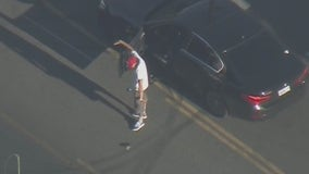 Selfie suspect in custody after leading police on chase across San Fernando Valley