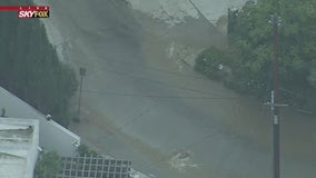 Crews working to contain Hollywood Hills water main break