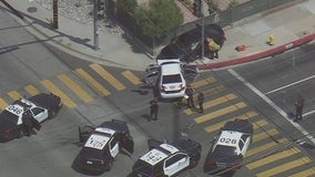 Innocent driver hit as pursuit comes to an end in Baldwin Park