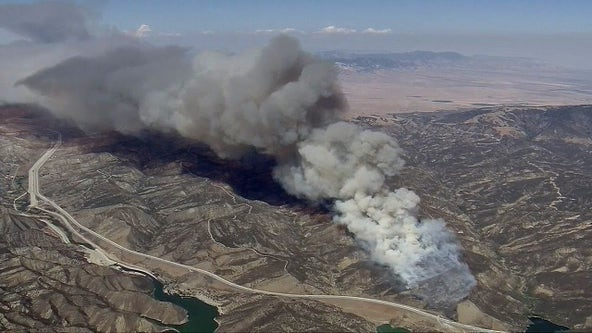Emigrant Fire: Big rig fire sparks fast-moving wildfire off 5 Freeway in Gorman area