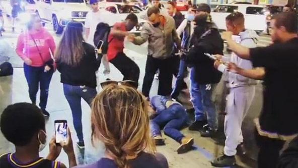 Video captures brutal attack along Hollywood Walk of Fame
