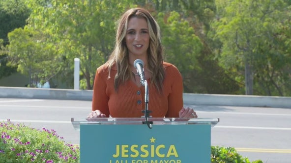 Jessica Lall, president and CEO of the Central City Association, announces run for Los Angeles mayor
