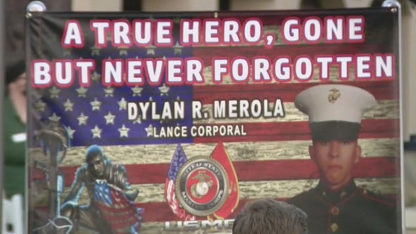 Procession held for Rancho Cucamonga Marine killed in Kabul airport attacks