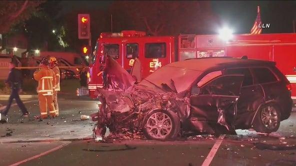 Three adults, two kids suffer traumatic injuries in Santa Ana crash
