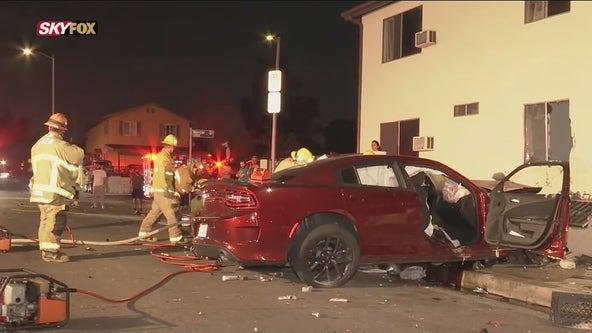 1 killed, 5 hurt in Pacoima crash