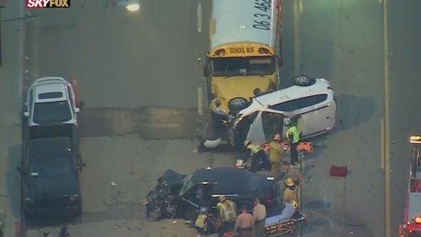 School bus involved in multi-vehicle crash in South LA