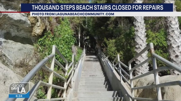 Thousand Steps Beach in Laguna Beach to be closed for two months due to repairs
