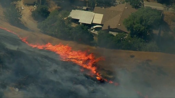 Evacuation orders issued as crews battle brush fire in San Bernardino