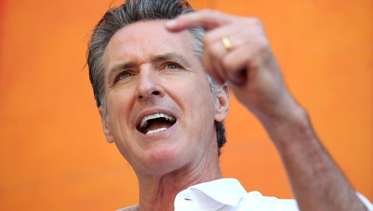 California Governor Gavin Newsom Campaigns Against The Recall Attempt In Bay Area