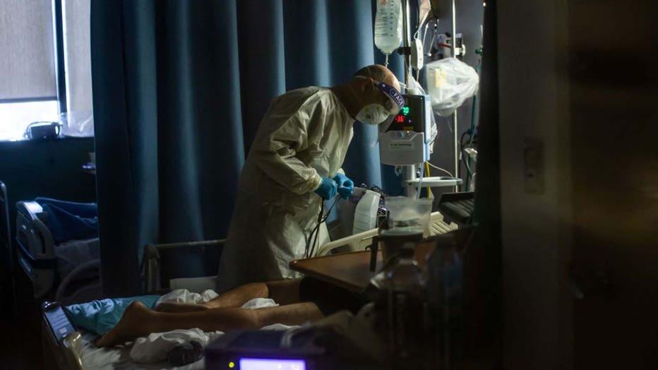COVID hospital bed