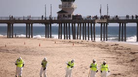 California oil spill: Huntington Beach reopens its shoreline