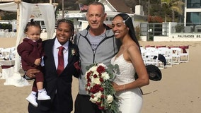 Tom Hanks crashes wedding on Santa Monica beach