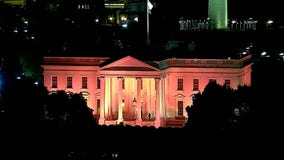 White House glows pink for start of National Breast Cancer Awareness Month