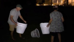 Brian Laundrie's parents remove laundry baskets from North Port front yard left by protesters