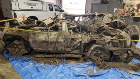 Human remains found in car submerged for nearly 20 years