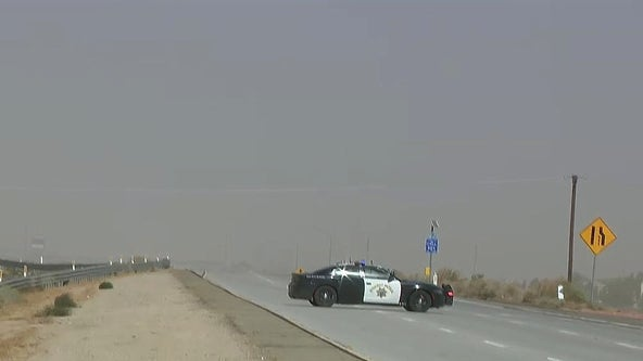 Dust storms in Lancaster area prompt roadway closures for hours due to 'low to zero visibility'