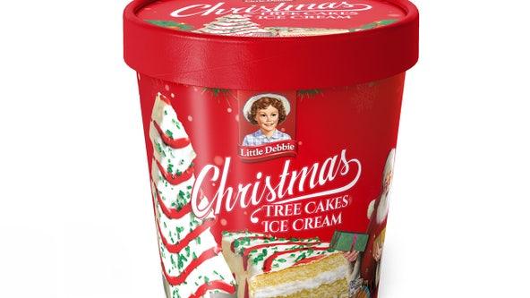 Little Debbie Christmas Tree Cakes Ice Cream to hit shelves this holiday season