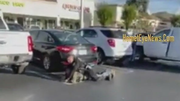 VIDEO: Hamet police officer allegedly punches trespassing suspect